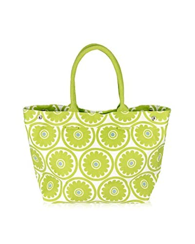 Indian Summer Women's Big Flower Large Tote, Green