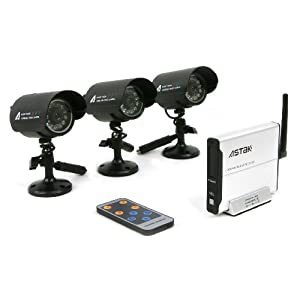 Astak CM-818T3 2.4GHz Wireless Security Surveillance Camera Set