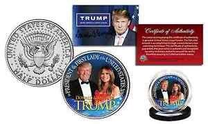 [DONALD TRUMP & MELANIA TRUMP OFFICIAL 2016 Presidential Kennedy Half Dollar Coin] (Prison Mike Halloween Costume)