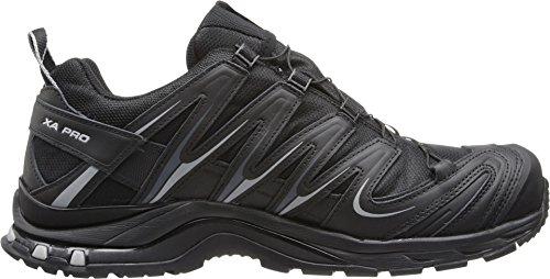 pictures of Salomon Men's XA Pro 3D CS WP Trail Running Shoe,Black/Black/Pewter,8.5 M US