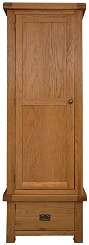 Hagley Bedroom Single Wardrobe Wooden 1 Drawer
