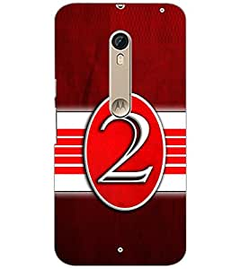PrintDhaba NUMBER TWO D-6639 Back Case Cover for MOTOROLA MOTO X STYLE (Multi-Coloured)