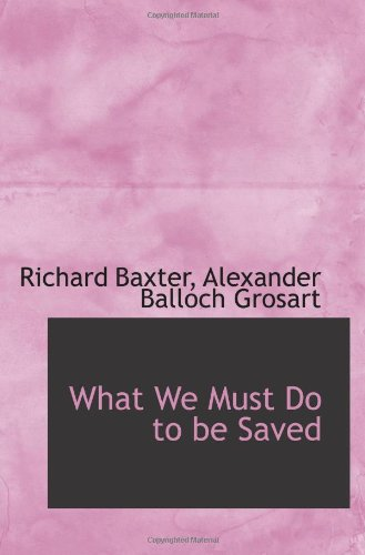 What We Must Do to be Saved