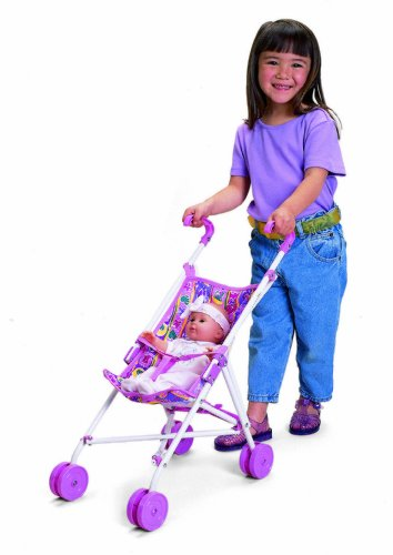 Small World Toys All About Baby - Umbrella Doll Stroller