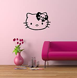 Amazon.com: Wall Mural Vinyl Sticker Cute Hello Kitty Skull G215: Home