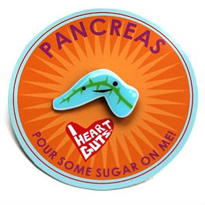 Pancreas Lapel Pin Pour Some Sugar On Me Now I Heart Guts