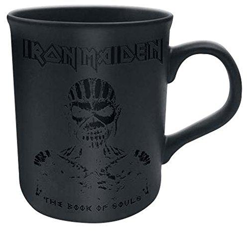 Iron Maiden Book Of Souls Logo nero opaco Tazza Gloss Stampa Scrittura Premium Deluxe Boxed caffe regalo tazza ufficiale Licensed Merchandise