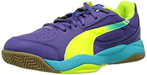 Puma  evoSPEED Indoor 5.3, Chaussures indoor mixte adulte - Violet - Violett (prism violet-fluro yellow-scuba blue 01), 40.5 EU (7 Erwachsene UK) EU