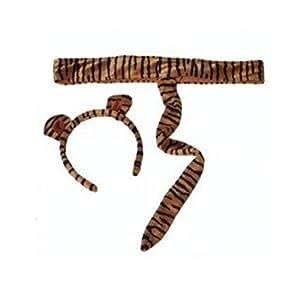 Making Believe Kids Plush Tiger Headband Ears Tail Safari Dressup Halloween Costume