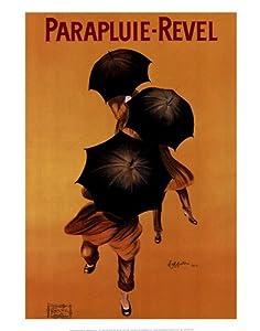 (22x28) Leonetto Cappiello Parapluie Revel Umbrellas Art Print Poster