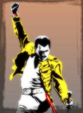 """imagenation Freddie Mercury, dei Queen, per pittura con cornice, stampa artistica su tela, 50CM X 70CM X 5CM DEPTH / 20"""" X 28"""" X 2"""""""