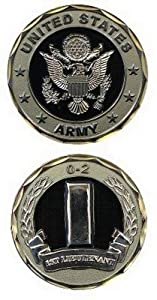 CHALLENGE COIN-US ARMY-1ST LT. 0-2