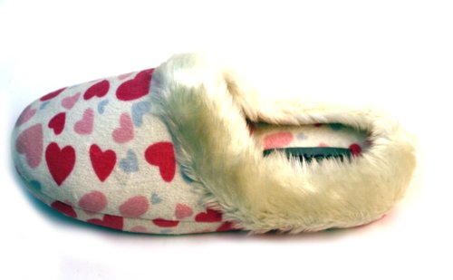 Image of Luckers Women's Pink Heart Slippers (B008N1WNJY)