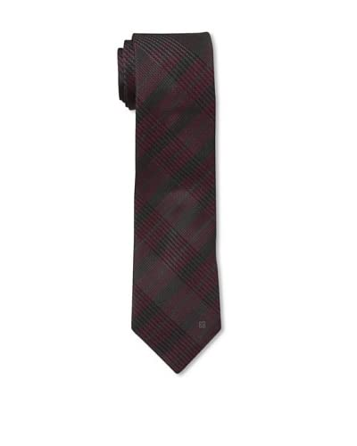 Givenchy Men's Plaid Tie, Burgundy
