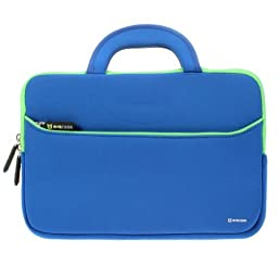 Evecase 11-Inch. UltraPortable Handle Carrying Portfolio Sleeve Neoprene Case Bag for HP Stream Notebook Laptop - Blue