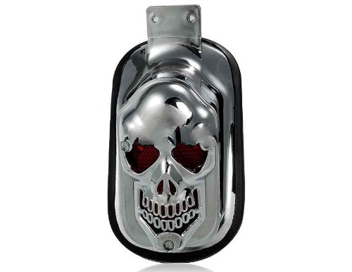 Skull Brake Tail Light For Harley Davidson Motorcycle