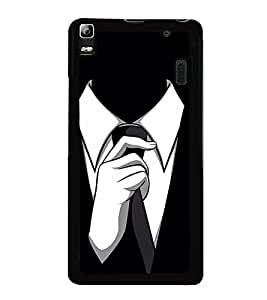 Fuson Premium 2D Back Case Cover Mr. Perfect DESIGN With White Background Degined For Lenovo A7000