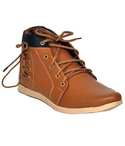 T-Rock Stylish Men's Lace Up Beige Casual Shoes