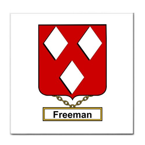Freeman Family Crest Tile Trivet Coat of Arms Tile Trivet Picture
