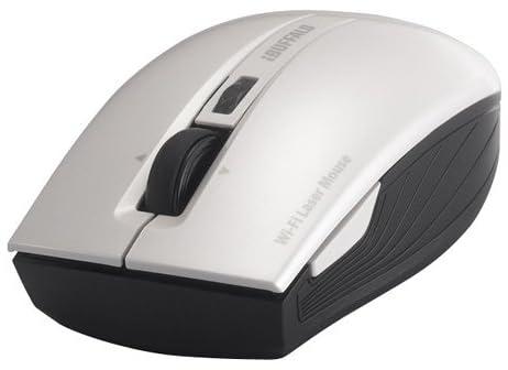 iBUFFALO無線(Wi-Fi)レーザーマウス【無線LANでつながる!!日本初Wi-Fiで接続するワイヤレスマウス】 5ボタン/横スクロールタイプ ホワイト BSMLW15DWH