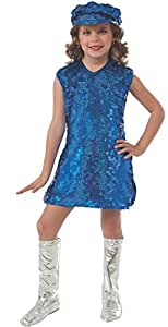 Rubies Blue Mod Girl Costume