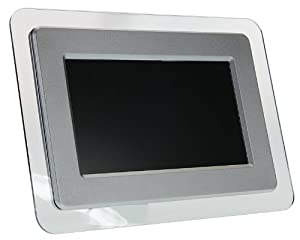 KitVision 7 inch Digital Photo Frame with Built-In Stand Supporting SD/XD/MMC/MS Memory Cards - Silver