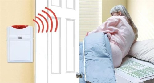 Cordless, Wireless Bed Alarm Alert System - No Alarm in Patient's Room (20