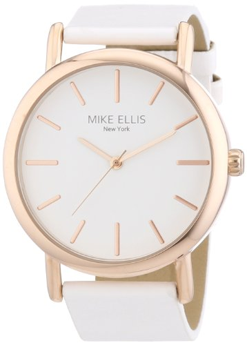 Mike-Ellis-New-York-Damen-Armbanduhr-Analog-Quarz-Kunstleder-L29793