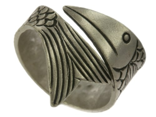 Karen Hill Tribe Sterling Silver Tribal Rolling Fish Ring (6)