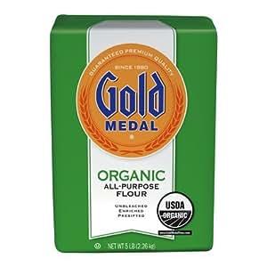 Amazon.com : Gold Medal, All Purpose Organic Flour, 80oz ...