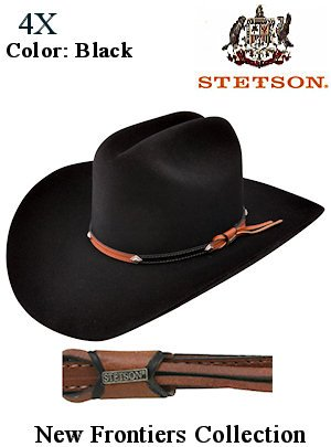 Stetson Hats 4X GRANT New Frontiers SF0442 Blk cowboy hat for CHECK NOW!!  CHEAPEST ONLINE DEALS !!! 0a11ac6ad4f9