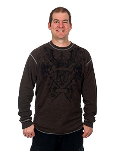 Men's Graphic Print Long Sleeve Thermal Style Shirt (Coat of Arms, X-Large)