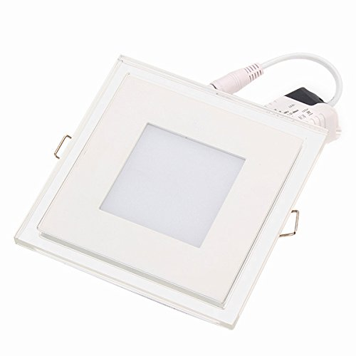 100-240V 6W White Square Led Panel Light Ceiling Lamp Synchronous Lighted