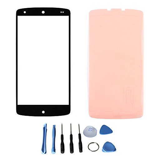 Front Screen Glass Lens For Lg Google Nexus 5 D820 D821 With Free Tools (Not Include Lcd Digitizer) (Black + Adhesive)