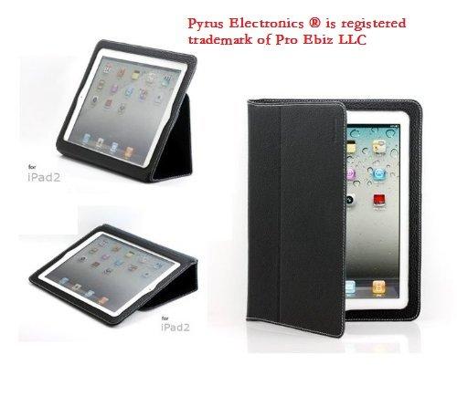 Pyrus Electronics (TM) Genuine Leather Case for iPad 2 (latest generation) (Black)