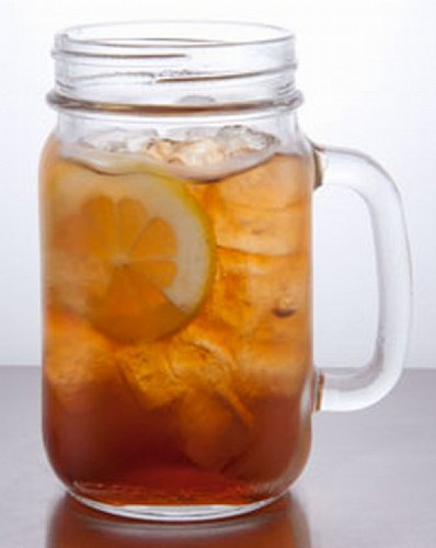 Drinking Jar Tennessee Handled Glass Tumbler Jar 22oz 630ml Beer Lager Glass set of 4