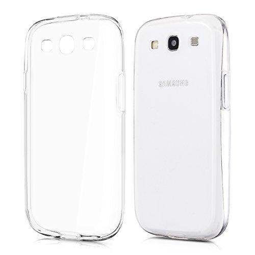 kwmobile Custodia in TPU silicone semplice ma elegante per il Samsung Galaxy S3 i9300 / S3 Neo i9301 in trasparente