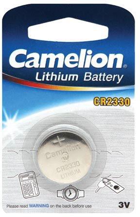 Camelion Lithium pile bouton, CR2330 / DL2330 / E-CR2330, 3V - 1 pièces