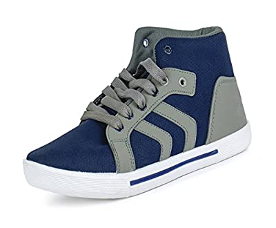 Earton Men's Blue & Grey Casual Shoes