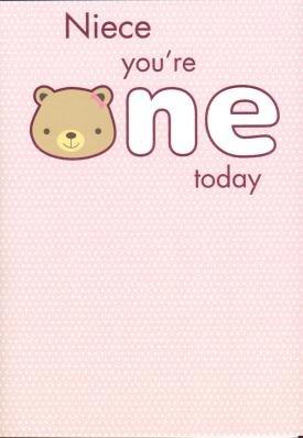 Niece 1st Birthday, Birthday Greetings Cards