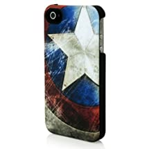 Marvel Captain America Battered Shield Clip Case for iPhone 4