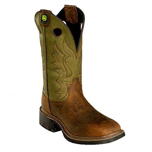 John Deere Men's JD5316 Pull-On Boot,Gold,13 2E US