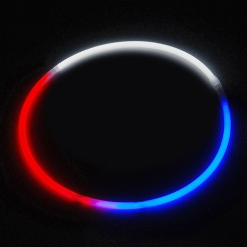 24″ Glowsticks Glow Stick Necklaces Tri-Color RED WHITE and BLUE (100 necklaces)