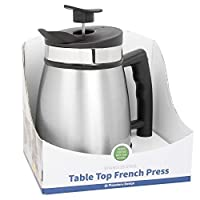 French Press Tabletop Coffee and Tea Maker Stainless Steel - 32 oz - Brushed Steel
