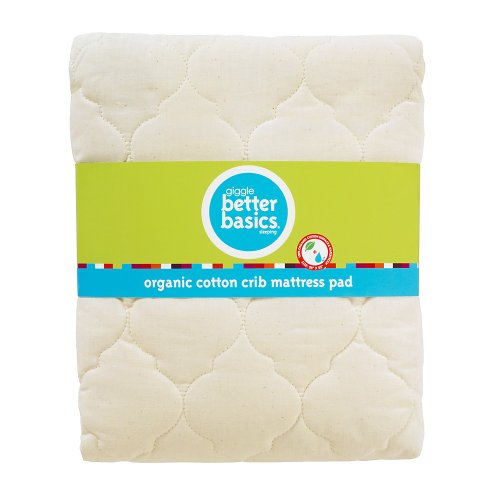 giggle Better Basics Waterproof Crib Mattress Pad (organic)