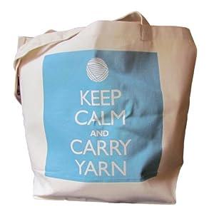 Keep Calm and Carry Yarn - Heavyweight Canvas Tote Bag