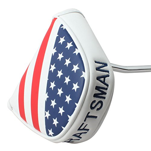 Craftsman Golf USA Flag Star Magnetic Golf Mallet Putter Cover Headcover for Scotty Cameron Taylormade Odyssey Ping Mallet Club (Futura X5 Head Cover compare prices)