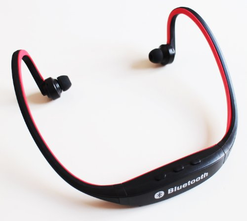 Comfort Sports Music Wireless Stereo Bluetooth Headset Headphone for Apple iPhone, iPad, Blackberry, HTC, Samsung , Samsung S3, Samsung S2, Nokia, Motorola, LG , Sony Ericson, PDA, Tablet PC, PC, Laptop and any Bluetooth Enabled Device - Red GLX Bluetooth Headsets autotags B00GS5QOPQ