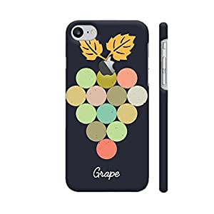Colorpur Grapes On Black Designer Mobile Phone Case Back Cover For Apple iPhone 7 with hole for logo | Artist: Designer Chennai