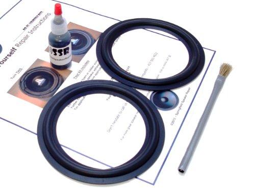 "Butyl Rubber 5.25"" Speaker Surround Repair Kit - 2 Piece, 5.25 Inch"